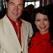 NLD/Amsterdam/20080607 - Amsterdamdiner 2008, Erik Vogel en partner Carolien de Bruin