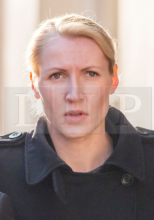 © Licensed to London News Pictures. 10/10/2018. Bristol, UK. Teacher ELLIE WILSON (blonde hair) arrives at Bristol Crown Court on the third day of the second week of her trial, accused of having sexual activity with a school pupil. The jury is still out to consider their verdict. The 29 year old from Dursley in Gloucestershire denies four counts of abuse of position and sexual activity with a child. She was a physics teacher at a Bristol secondary school (which cannot be named for legal reasons) when the alleged offences took place in August 2015. It is alleged that Wilson had sex with the male pupil in the toilet of an aircraft on the return flight from a school trip to southern Africa. When interviewed Wilson said there was a friendship with the boy and admitted she shouldnít have gone as far as she did but there was nothing sexual. Photo credit: Simon Chapman/LNP
