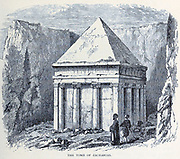 Tomb of Zacharias, Jerusalem From the book 'Those holy fields : Palestine, illustrated by pen and pencil' by Manning, Samuel, 1822-1881; Religious Tract Society (Great Britain) Published in 1874