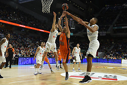 December 19, 2017 - Madrid, Madrid, Spain - Fernando San Emeterio (center), #19 of Valencia in action during the 2017/2018 Turkish Airlines EuroLeague Regular Season Round 13 game between Real Madrid and Valencia Basket at WiZink center in Madrid. (Credit Image: © Jorge Sanz/Pacific Press via ZUMA Wire)