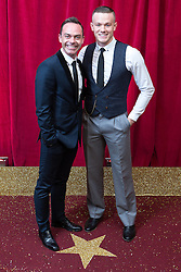 © Licensed to London News Pictures . 16/05/2015 .  The Palace Hotel , Manchester , UK . Daniel Brocklebank (l) and Tom Scanlon . The red carpet at the 2015 British Soap Awards , The Palace Hotel , Oxford Road , Manchester . Photo credit : Joel Goodman/LNP