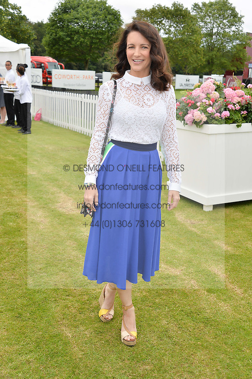 KIRSTIN DAVIS at the Cartier Queen's Cup Final polo held at Guards Polo Club, Smith's Lawn, Windsor Great Park, Egham, Surrey on 15th June 2014.