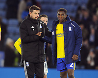 Football - 2019 / 2020 Emirates FA Cup - Fifth Round: Leicester City vs. Birmingham City<br /> <br /> Birmingham Manager Pep Clotet with Wes Harding after the match, at the King Power Stadium.<br /> <br /> COLORSPORT/ANDREW COWIE