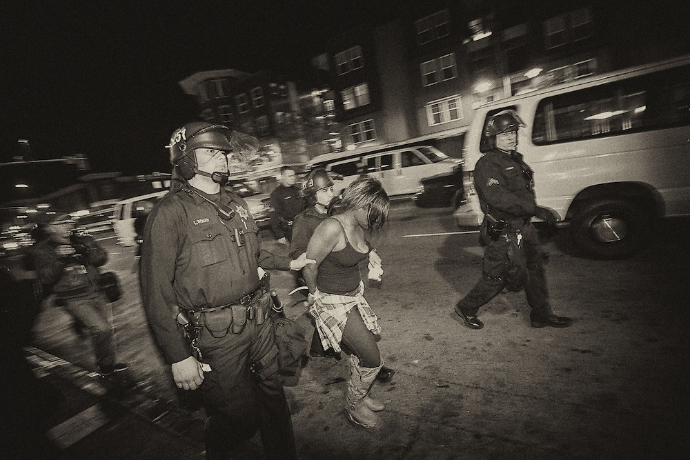 Michael Brown, Eric Garner and alleged police brutality protest and riot on Wednesday, Nov. 26, 2014, in Oakland and San Francisco.