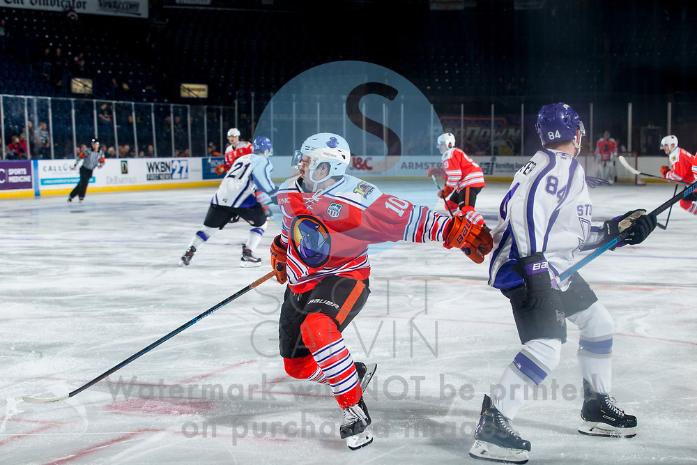 Youngstown Phantoms win 5-3 against the Tri-City Storm at the Covelli Centre on January 18, 2020.<br /> <br /> Jacob Felker, forward, 10
