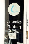 Glass window Ceramics Painting Studio, Woodbridge, Suffolk, England