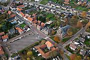 Nederland, Limburg, Gemeente Echt-Susteren, 15-11-2010; het kerkdorp .Roosteren. Sint-Jacobuskerk (waterstaatskerk)..luchtfoto (toeslag), aerial photo (additional fee required).foto/photo Siebe Swart