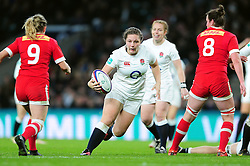 Amy Cokayne of England takes on the Argentina defence - Mandatory byline: Patrick Khachfe/JMP - 07966 386802 - 26/11/2016 - RUGBY UNION - Twickenham Stadium - London, England - England Women v Canada Women - Old Mutual Wealth Series.