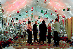 Dec 04. the famous Christmas lights in the lobby of the Fairmont Hotel in New Orleans, Louisiana.