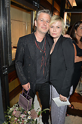 JASON & FLORA STARKEY at a party to celebrate the opening of the jeweller Ara Vartanian's Flagship Store 44 Bruton Place, London on 7th September 2016.