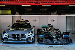 May 9, 2019 - Barcelona, BARCELONA, SPAIN - BARCELONA, CATALONIA, SPAIN 9 of May. FIA seafty car and Lewis Hamilton Car in the box (Credit Image: © AFP7 via ZUMA Wire)