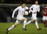 Fotball<br /> Danmark v Sør Korea / Sør-Korea<br /> Foto: DPPI/Digitalsport<br /> NORWAY ONLY<br /> <br /> FOOTBALL - INTERNATIONAL FRIENDLY GAMES 2009/2010 - DENMARK v SOUTH KOREA - ESBJERG (DEN) - 14/11/2009 <br /> <br /> JI SUNG PARK (KOR)