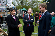 UK. London. The Village Green: From Blair to Brexit.<br /> A story on the relationship between the Media, Politicians and the public as they come together on College Green, a small patch of land next to The Houses of Parliament in Westminster. <br /> Photo shows Conservative MP and Secretary of State for Education, Michael Gove (who is married to Sarah Vine, leader writer at The Times) five days after a General Election returned a new coalition Government formed of the Conservatives and Liberal Democrats. <br /> Photo©Steve Forrest/Workers' Photos