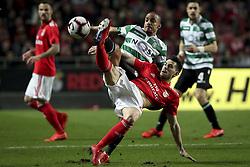 February 7, 2019 - Na - Lisbon, 06/02/2019 - SL Benfica received Sporting CP tonight at the Est√°dio da Luz stadium in the first leg of the Portuguese Cup 2018/19 semi-final. Bruno Gaspar, Pizzi  (Credit Image: © Atlantico Press via ZUMA Wire)