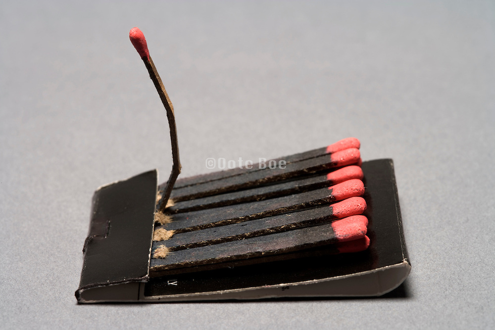 matchbook with one match standing out