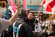 Rightists harass anti Japanese emperor demo 5/26/19