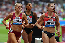 July 22, 2018 - London, United Kingdom - L-R Alexandra Bell of Great Britain and Sanne Verstegen-Wolters of Netherlands Compete in the 800m Women during the Muller Anniversary Games IAAF Diamond League Day Two at The London Stadium on July 22, 2018 in London, England. (Credit Image: © Action Foto Sport/NurPhoto via ZUMA Press)