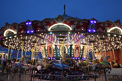 07 August 2015:   McLean County Fair - Merry-go-round