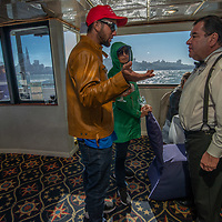 Friends of the Kulda family celebrate Fleet Week in San Francisco Bay aboard the charter boat Merlot.