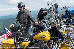 Jack Dunbar with his 1994 Harley-Davidson Road Glide Police Special on the Bikes Only day up 6,289 foot Mount Washington during Laconia Motorcycle Week, New Hampshire, USA. Thursday June 15, 2017. Photography ©2017 Michael Lichter.