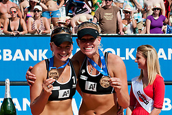 Third place for Marleen Van Iersel and Sanne Keizer of Netherland at A1 Beach Volleyball Grand Slam tournament of Swatch FIVB World Tour 2011, on August 6, 2011 in Klagenfurt, Austria. (Photo by Matic Klansek Velej / Sportida)