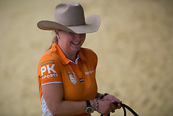 Rieky Young Van Osch, (NED), Brady Chex - Horse Inspection Reining  - Alltech FEI World Equestrian Games™ 2014 - Normandy, France.<br /> © Hippo Foto Team - Dirk Caremans<br /> 25/06/14