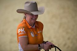 Rieky Young Van Osch, (NED), Brady Chex - Horse Inspection Reining  - Alltech FEI World Equestrian Games™ 2014 - Normandy, France.<br /> © Hippo Foto Team - Dirk Caremans<br /> 25/06/14