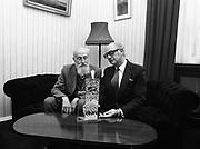 26 September 1979<br /> <br /> Jack Lynch with sculptor Oisín Kelly.