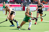 ANTWERP - BELFIUS EUROHOCKEY Championship.women  Ireland-Gemany (1-1).  Germany placed for semifinals . Nicola Daly (Irl)  with Viktoria Huse (Ger) .  WSP/ KOEN SUYK
