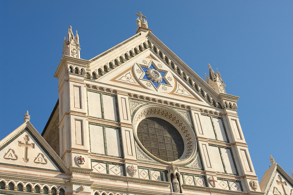 Basilica Santa Croce - Facade - Florence Italy. .<br /> <br /> Visit our ITALY PHOTO COLLECTION for more   photos of Italy to download or buy as prints https://funkystock.photoshelter.com/gallery-collection/2b-Pictures-Images-of-Italy-Photos-of-Italian-Historic-Landmark-Sites/C0000qxA2zGFjd_k<br /> .<br /> <br /> Visit our MEDIEVAL PHOTO COLLECTIONS for more   photos  to download or buy as prints https://funkystock.photoshelter.com/gallery-collection/Medieval-Middle-Ages-Historic-Places-Arcaeological-Sites-Pictures-Images-of/C0000B5ZA54_WD0s