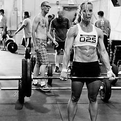 Angie Pye Deadlifts at CrossFit Reebok Ramsay's Grand Opening WOD