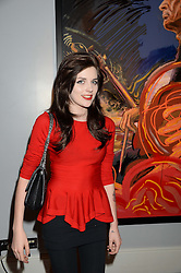 CHARLOTTE WATTS granddaughter of Charlie Watts at Ronnie Wood's Raw Instinct Summer Party held at Castle Fine Art, Bruton Street, London on 9th July 2013.