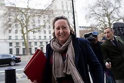 © Licensed to London News Pictures. 02/03/2020. London, UK. Secretary of State for International Development Anne-Marie Trevelyan arrives at The Cabinet Office. Photo credit: George Cracknell Wright/LNP