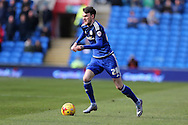 Scott Malone of Cardiff city in action.Skybet football league championship match, Cardiff city v Preston NE at the Cardiff city stadium in Cardiff, South Wales on Saturday 27th Feb 2016.<br /> pic by  Andrew Orchard, Andrew Orchard sports photography.