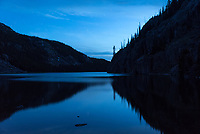 Later in the night the wind picked up quite a bit. But after sunset Lake Solitude was fairly calm and made for a nice reflection.