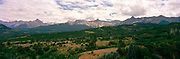 Panoramic view of The Dallas Divide, near Ouray, Colorado, USA; August, 2010