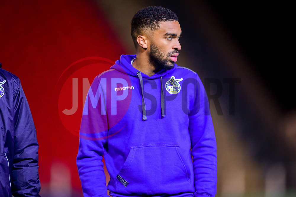 Tareiq Holmes-Dennis of Bristol Rovers arrives at St James Park prior to kick off - Mandatory by-line: Ryan Hiscott/JMP - 13/11/2018 - FOOTBALL - St James Park - Exeter, England - Exeter City v Bristol Rovers - Checkatrade Trophy