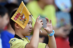 28-08-2015 CHN: IAAF World Championships Athletics day 7, Beijing<br /> High jump Decathlon / Chinees supporer taking pictures with his mobile phone<br /> Photo by Ronald Hoogendoorn / Sportida