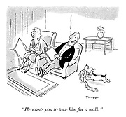 """He wants you to take him for a walk."""