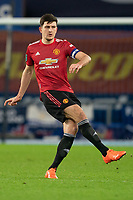 Football - 2020 / 2021 League Cup - Quarter-Final - Everton vs Manchester United - Goodison Park<br /> <br /> Manchester United's Harry Maguire in action during todays match  <br /> <br /> <br /> COLORSPORT/TERRY DONNELLY