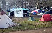 Occupy Bath anti capitalist protest camp, Queen Square, Bath, England, December 2011