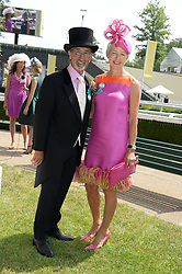 EDDIE JORDAN and MARIE JORDAN at the 2nd day of the 2013 Royal Ascot Horseracing festival at Ascot Racecourse, Ascot, Berkshire on 19th June 2013.