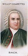 Johann Sebastian BACH (1685-1750) German composer and organist. Chromolithograph card 1912