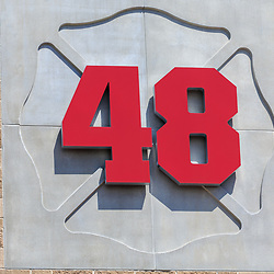 Hershey, PA / USA - May 21, 2018: The Hershey Volunteer Fire Department is known as Station 48 because of its radio call sign.