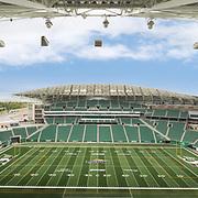 Photo of Mosaic Stadium, home of the Saskatchewan Roughriders, in Regina, Saskatchewan, Canada photographed by architectural photographer Brett Gilmour Photography.