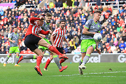 March 16, 2019 - Sunderland, Tyne and Wear, United Kingdom - Sunderland's Max Power shoots during the Sky Bet League 1 match between Sunderland and Walsall at the Stadium Of Light, Sunderland on Saturday 16th March 2019. (Credit: Steven Hadlow | MI News) (Credit Image: © Mi News/NurPhoto via ZUMA Press)