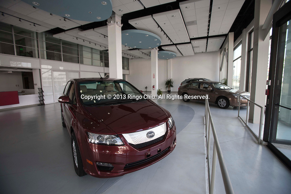 The Chinese car company BYD office in downtown Los Angeles. (Photo by Ringo Chiu/PHOTOFORMULA.com)
