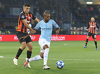 KHARKOV, UKRAINE - OCTOBER 23: <br /> Manchester City's Fernandinho in action during the Group F match of the UEFA Champions League between FC Shakhtar Donetsk and Manchester City at Metalist Stadium on October 23, 2018 in Kharkov, Ukraine. (Photo by MB Media/Getty Images)