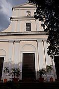 San Juan Cathedral in Plazuela de las Monjas in Old San Juan, Puerto Rico