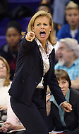 Florida State head coach Sue Semrau calls out from the bench against Washington during the first half of a women's basketball game in Seattle. (AP Photo/John Froschauer)
